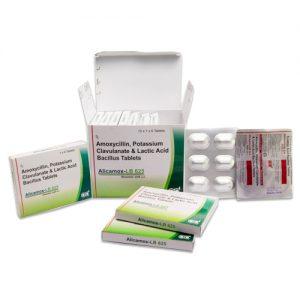 Amoxycillin 500mg + Potassium Clavulanate 125mg + Lactic Acid Bacillus