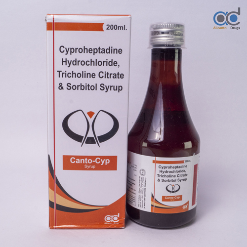 Cyproheptadine Hydrochloride 2MG+Tricholine Citrate 275 MG + Sorbitol