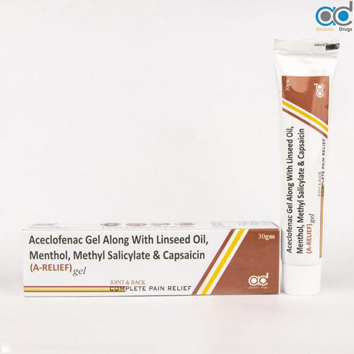 Aceclofenac 1.5%W/W, Oleum Lini 3.0%,Linseed Oil 3%,Methylsalicylate 10%,Capsailin 0.01,Menthol 5%