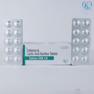 Cefixime 200mg and Lactic Acid Bacillius