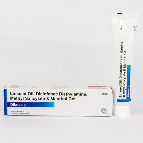 Diclofenac , Methyl Salicylate , Linseed Oil , Menthol Gel 5%